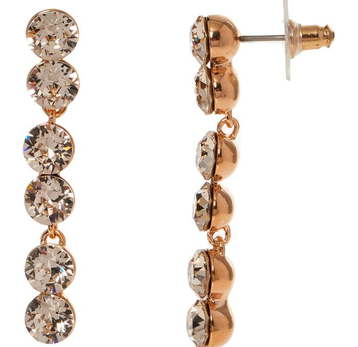 LOLA & GRACE Rose Gold Tone Crystal Drop Earrings