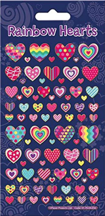 Paper Projects Rainbow Hearts Sticker Pack