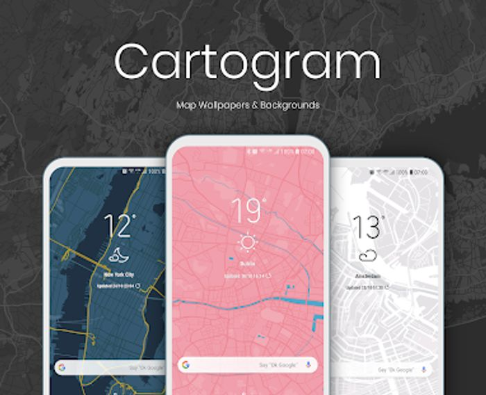 Cartogram - Live Map Wallpapers & Backgrounds Free for Short Time Was £1