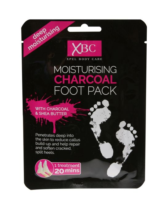 Xpel Body Care XBC Moisturising Charcoal Foot Pack with Shea Butter