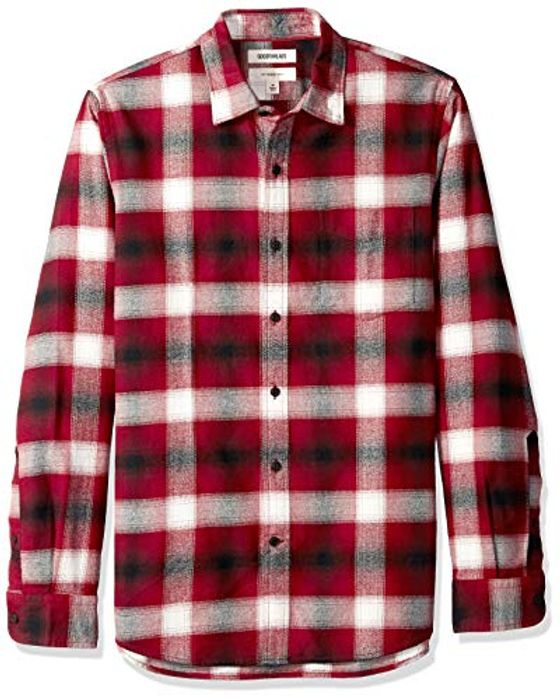 Amazon Brand - Goodthreads Men's Slim-Fit Long-Sleeve Brushed Flannel Shirt