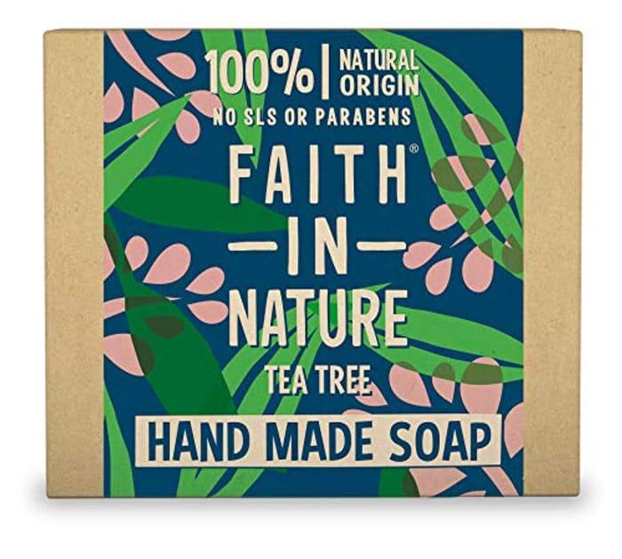Faith in Nature Natural Tea Tree Hand Soap Bar 100g