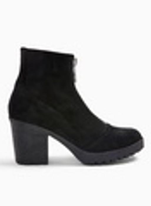 Ladies Black Heeled Boots