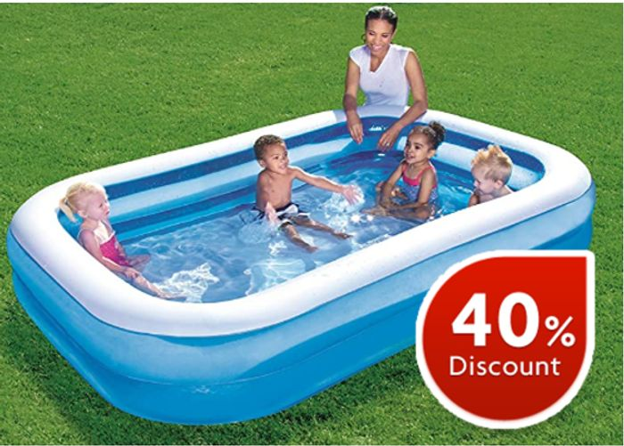SAVE £20 - Family Paddling Pool 8.7ft - AMAZON #1 Best Seller in Paddling Pools