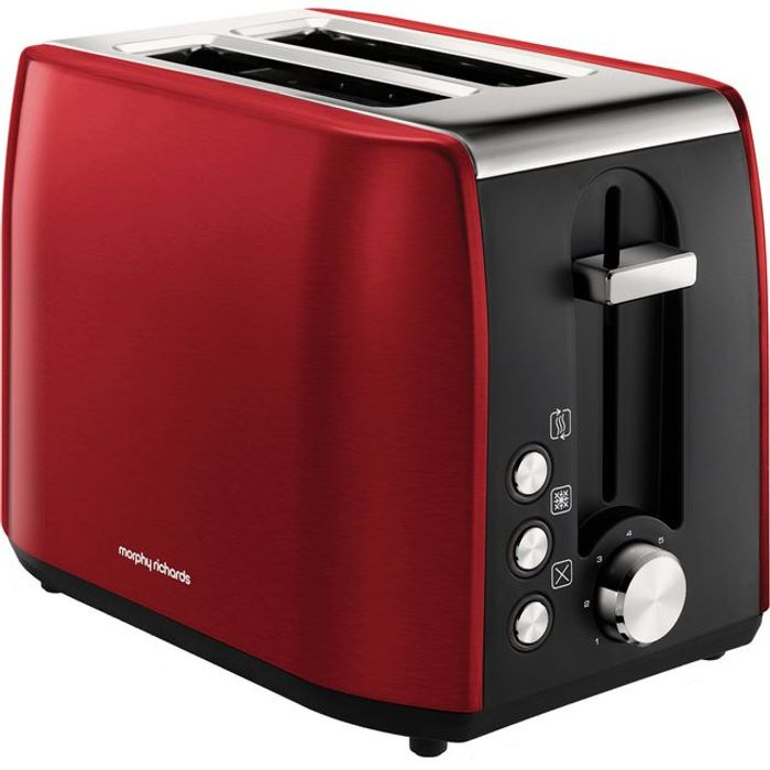 *SAVE £5* Morphy Richards Equip 2 Slice Toaster - Red/Black/Cream