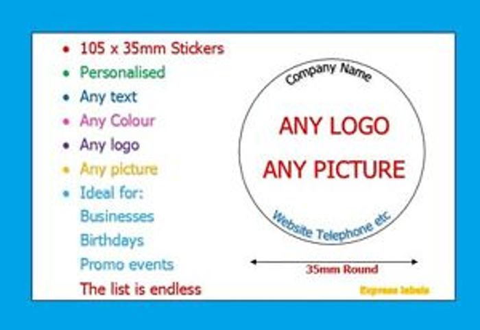 Personalised Business Name Stickers