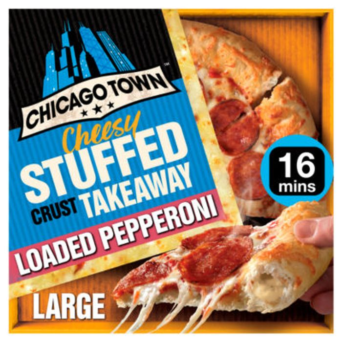 Chicago Town Takeaway Large Cheesy Stuffed Pepperoni Pizza