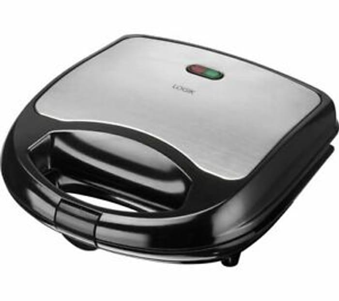 LOGIK L02SMS17 Sandwich Toaster - Black & Silver £9.99 - Currys