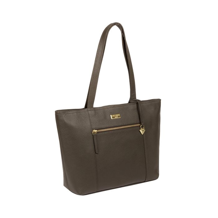 Cultured London - Olive 'Dawn' Handmade Leather Tote Bag