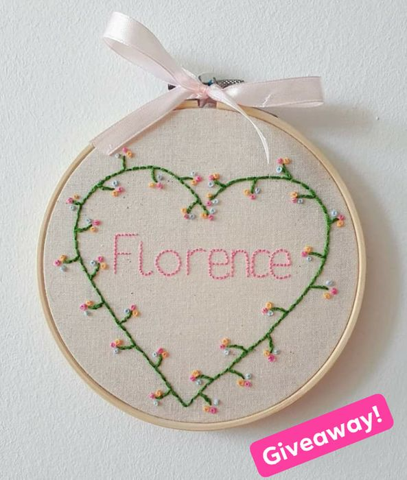 Win a Personalised Embroidery Design!