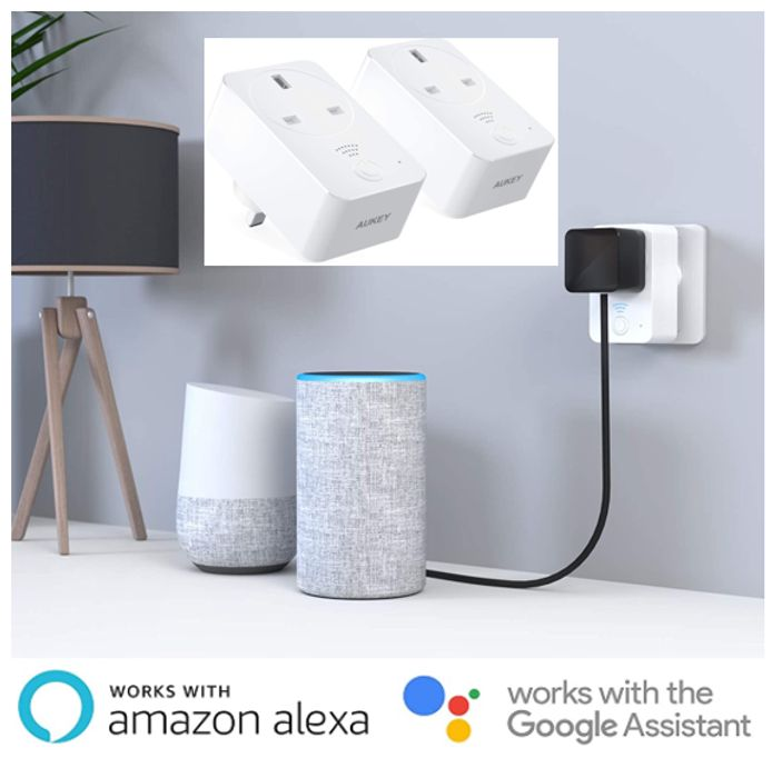Wi-Fi Smart Plug - Works with ALEXA & Google Assistant (2 Pack)