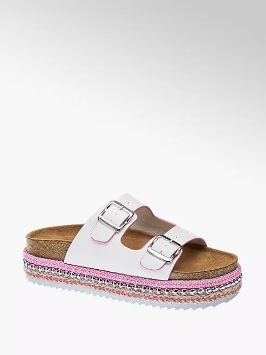 Rita Ora Star Collection Ladies Chunky Footbed Sandals White