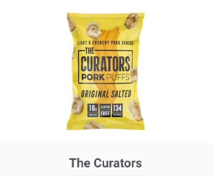 Curators Pork Puffs Original Salted from Sainsburys