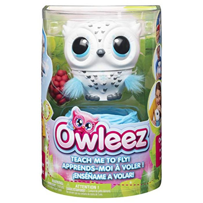 Owleez 6046148 Flying Baby Owl Interactive Toy with Lights and Sounds -Age 6 +