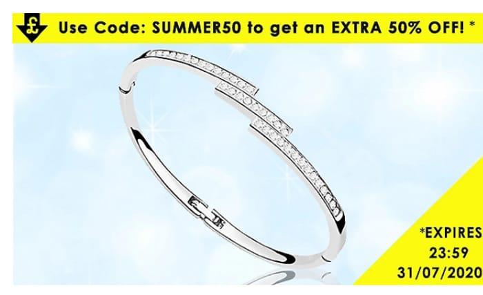 Swarovski Elements Triple Crystal Row Bracelet (Worth £79.99) - 95% Off Today