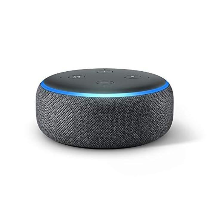 Half Price- Echo Dot (3rd Gen) - Smart Speaker with Alexa (All Colors)