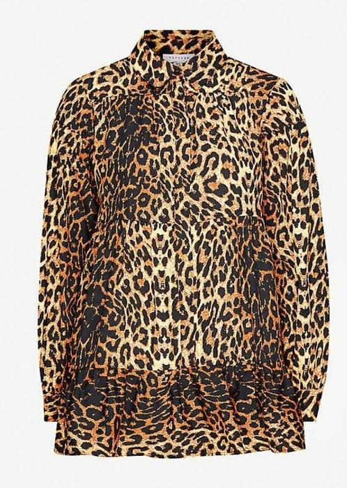 TOPSHOPShipwrecked Leopard-Print Loose-Fit Cotton Shirt