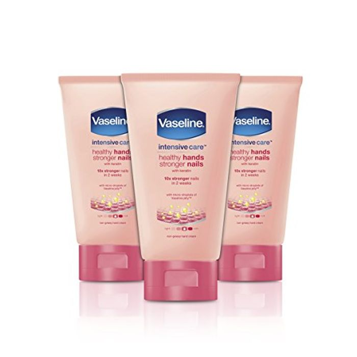 Price Drop! Vaseline Hand Cream, Healthy Hands and Stronger Nails - 3 X 75 Ml