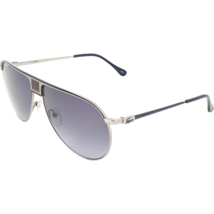 *SAVE £93* Lacoste Mens Sunglasses Light Ruthenium/Blue
