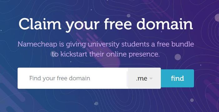 Free .Me Domain (University & College Students ONLY) @Namecheap