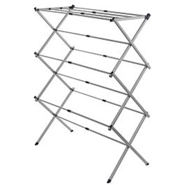 *SAVE £4* Addis Extendable 3-Tier Airer - Silver