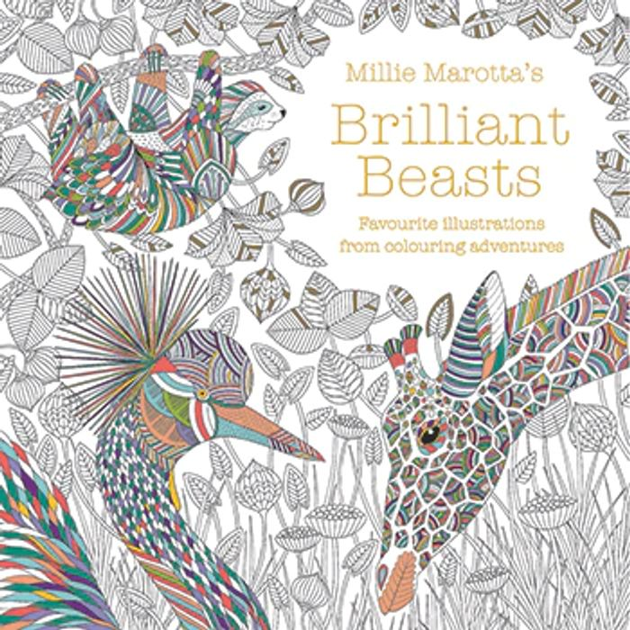 Cheap Millie Marottas Brilliant Beasts Colouring Book Only £6!