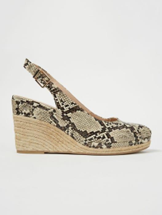 HomeWomenWomen's Shoes & Boots  Faux Snakeskin Wedge Espadrille Sandals