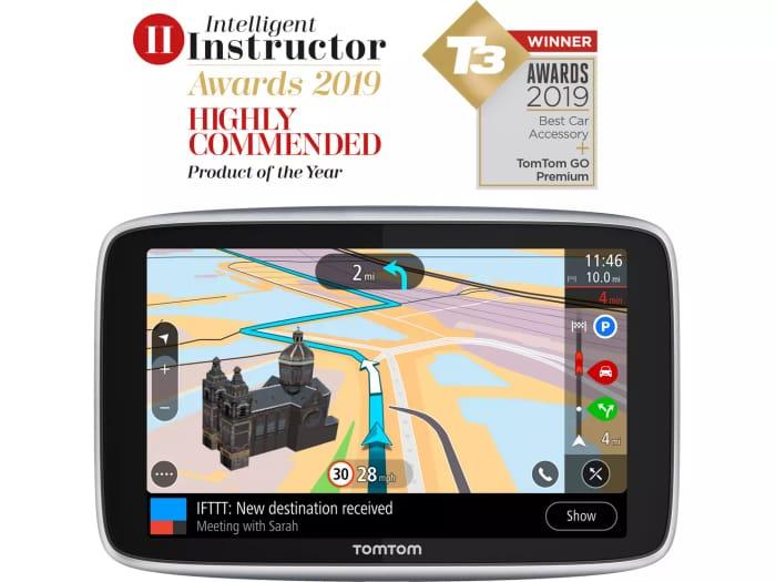 "Best Price! TomTom Go Premium 5"" Sat Nav Lifetime Updates World Maps"