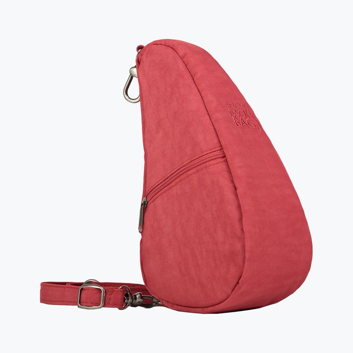 Textured Nylon Tuscan Red Small Baglett