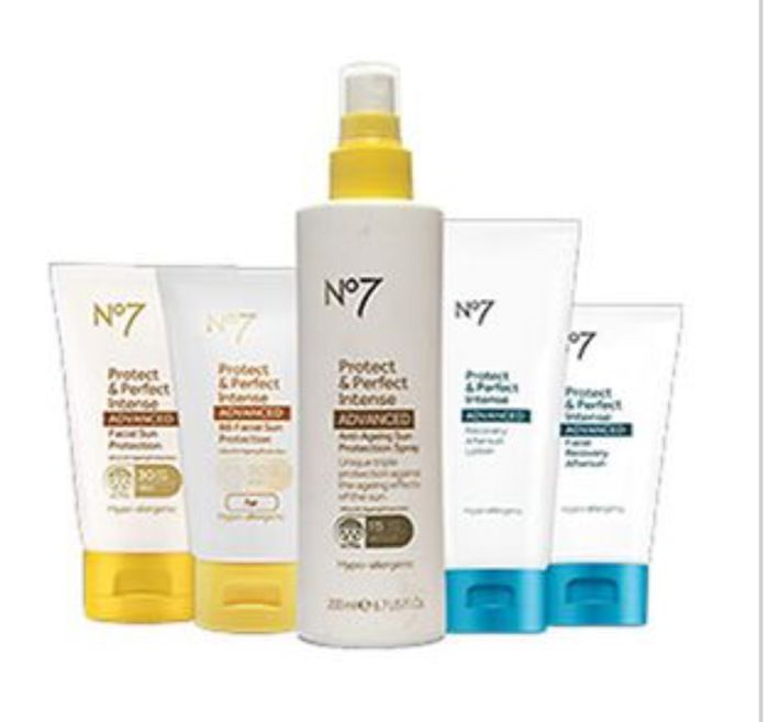 1/2 Price on Selected No7 Suncare 3 for2 on No 7
