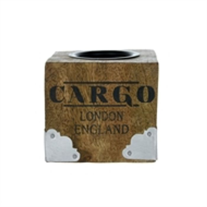 Wooden Cargo Tea Light Holder. Can Get This on a 3 for 2 Offer.