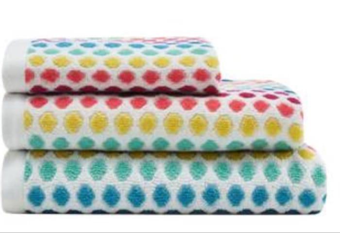 Debenhams - Multi-Coloured Spotted Towel Bath Sheet