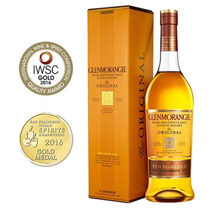 Glenmorangie 10 Year Old Single Malt Scotch Whisky, 70cl