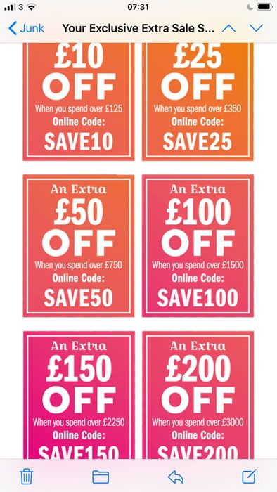 £10 off £150 Spend or More Offers Available