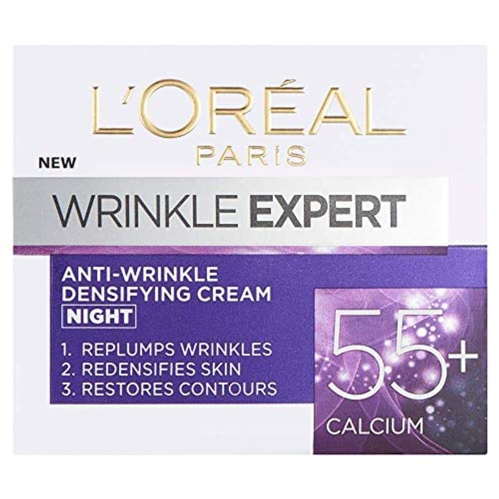 L'Oreal Paris Wrinkle Expert 55+ Calcium Anti-Wrinkle Night Cream 50 Ml