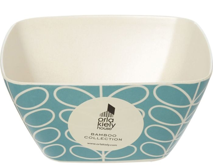 ORLA KIELY Blue Stem Bamboo Bowl 14x14cm