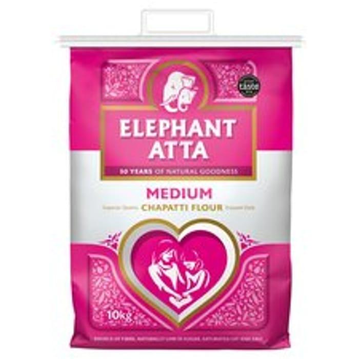 Elephant Atta Medium Chapatti Flour 10Kg at Tesco - Only £5!