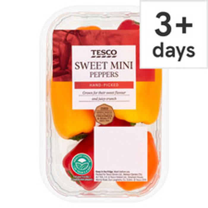 Tesco Sweet Mini Peppers 190G