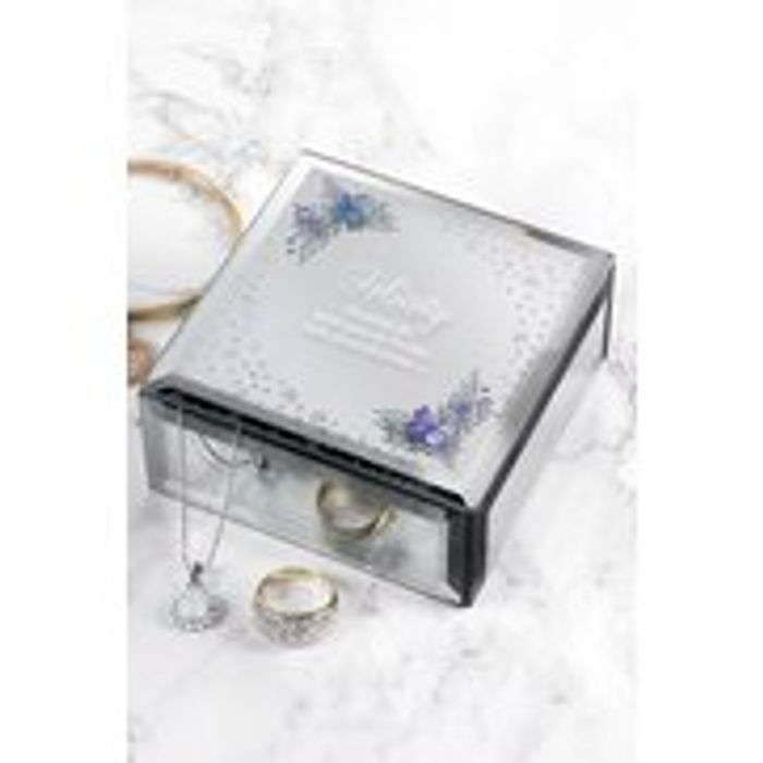 Personalised Floral Glass Jewellery Box