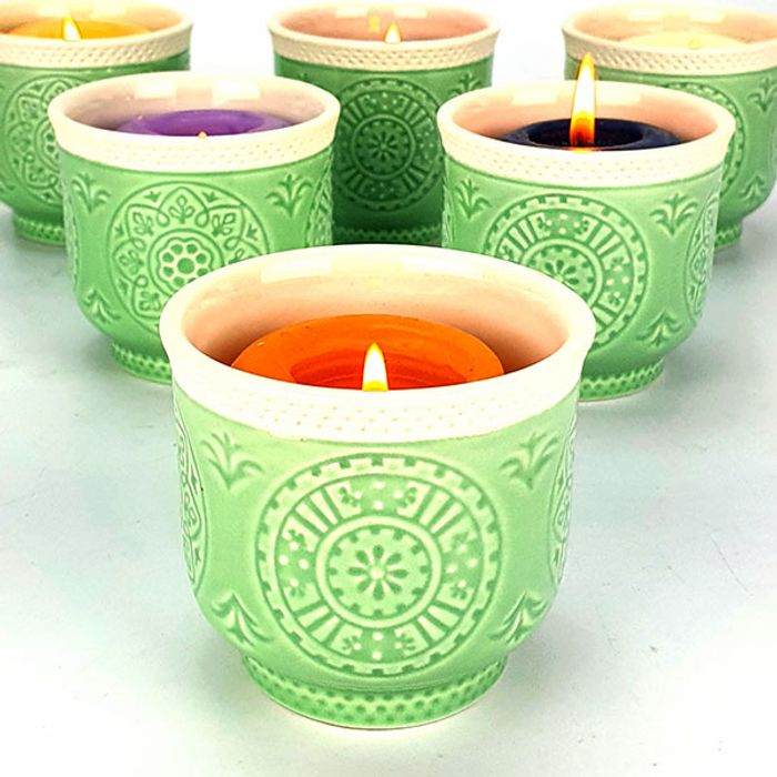 Cheap 6 X OFFICIAL Yankee Vintage Votive Candle Holders - Only £5!