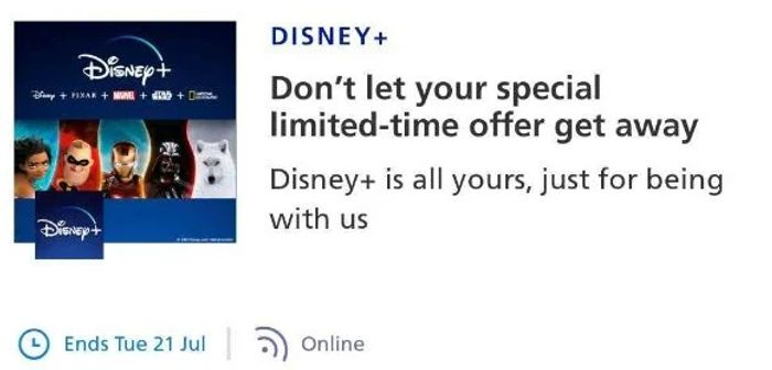 FREE 6 Months Disney+ For Existing O2 Customers - Check Your App