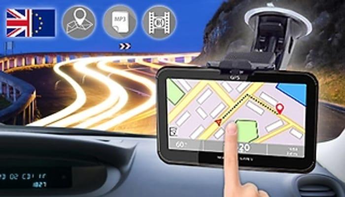 5 Piece Touchscreen GPS Sat Nav - UK & EU Maps - £25.99 Delivered