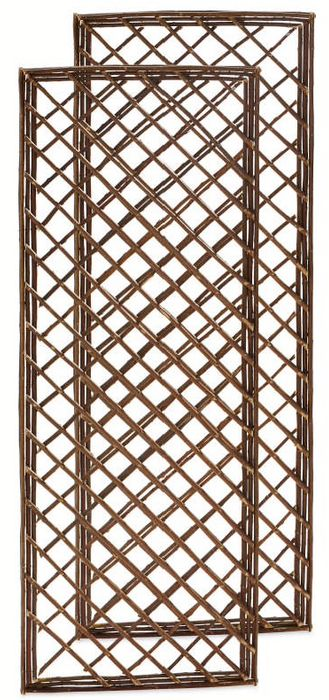 Square Natural Willow Trellis 2 Pack - Available in store