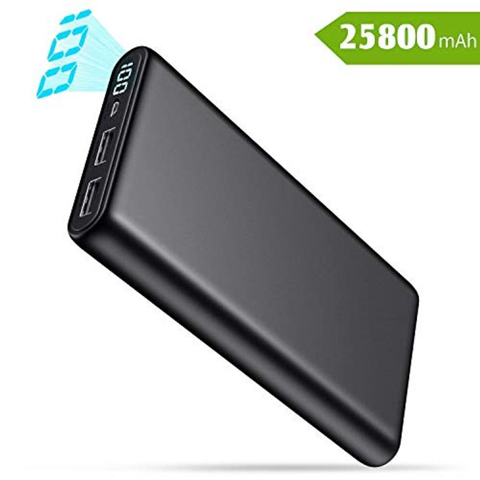 QTshine Power Bank, Portable Charger [25800mAh] High Capacity