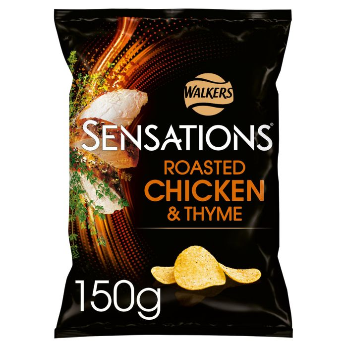 Sensations Roast Chicken & Thyme Crisps 150g