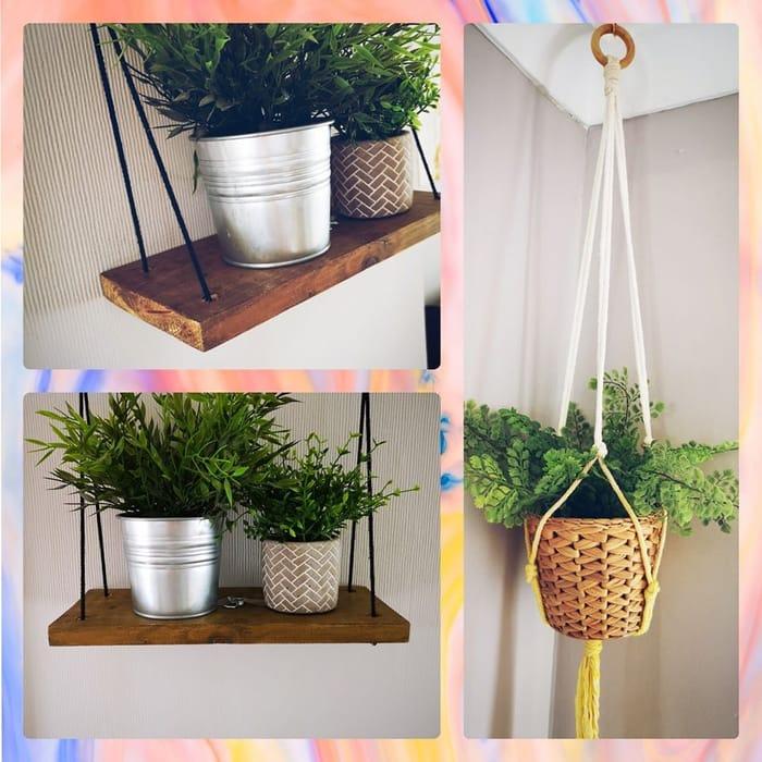 Win a Single Swing Shelf & an Ombre Dip Dyed Plant Hanger!