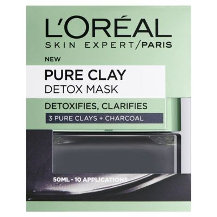 Best Price! L'Oreal Paris Pure Clay Detox Face Mask Charcoal 50ml