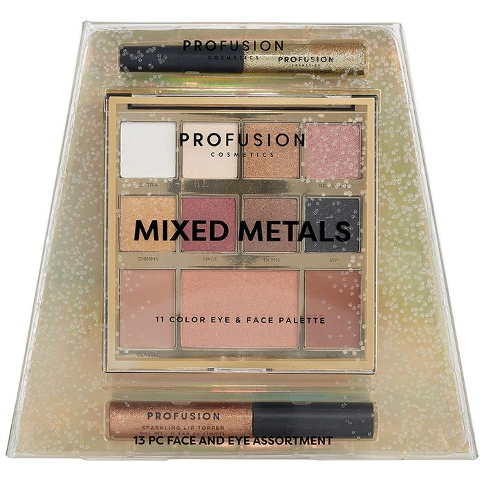 Profusion Cosmetics Mixed Metals 11 Colour Eye & Face Palette