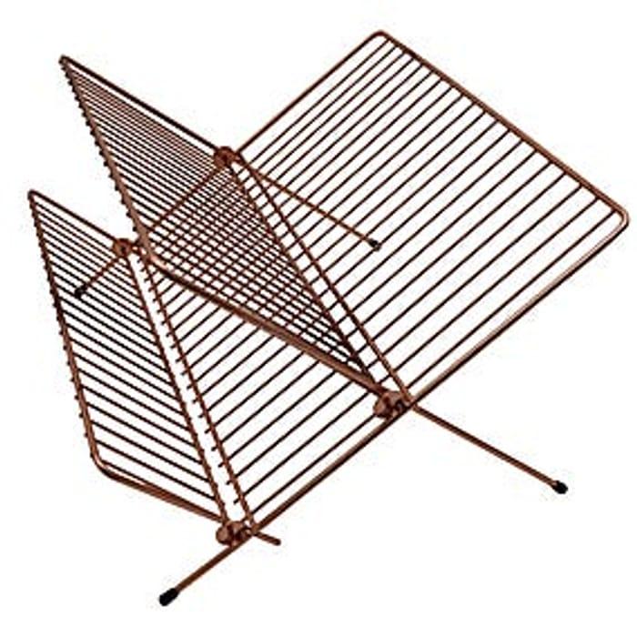 Folding Draining Rack - Copper Effect
