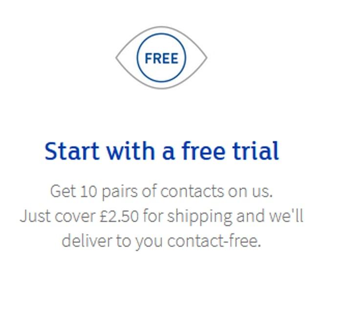 Free Trial of 10 Pairs of Contact Lenses at Hiwaldo